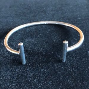 Sterling silver contemporary cuff bracelet